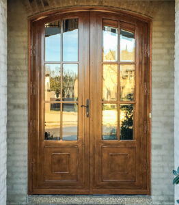 clear tinted glass traditional security doors